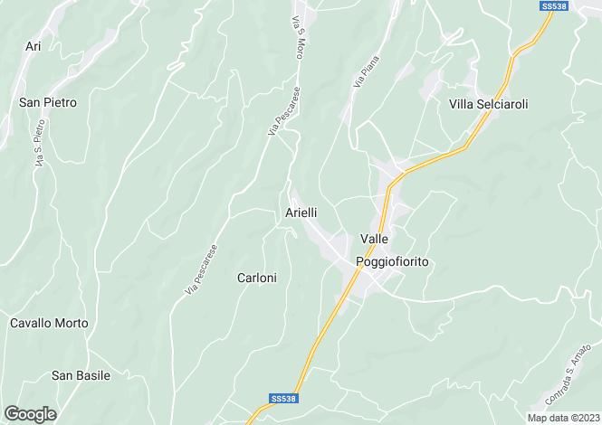 Map for Arielli, Chieti, Abruzzo