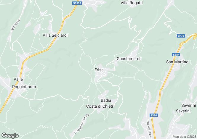 Map for Frisa, Chieti, Abruzzo