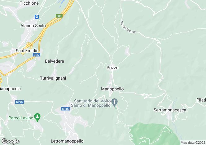 Map for Abruzzo, Pescara, Manoppello