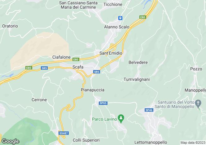 Map for Abruzzo, Pescara, Scafa