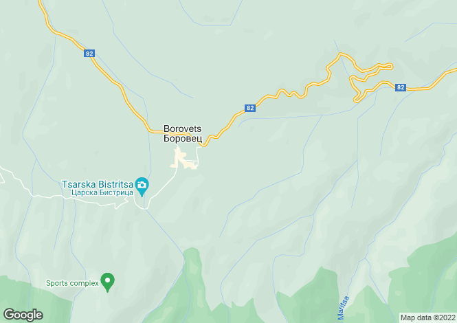 Map for Sofiya, Borovets