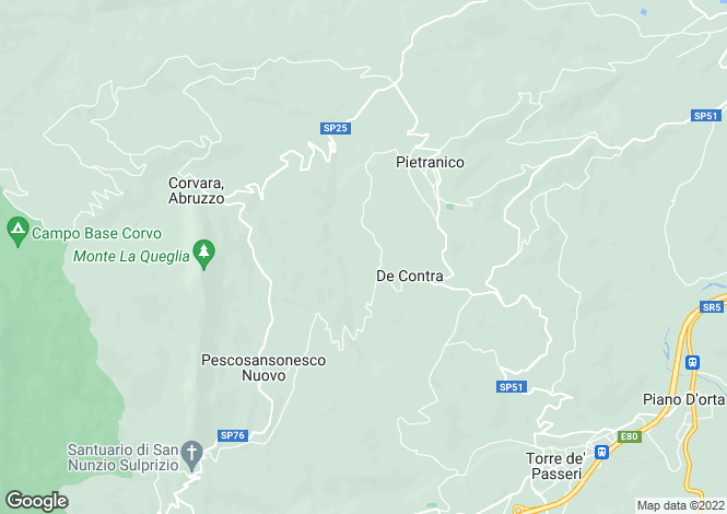 Map for Abruzzo, Pescara, Pietranico