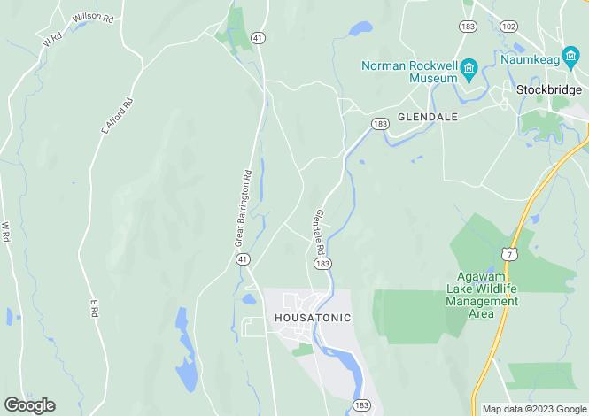 Map for USA - Massachusetts, West Stockbridge