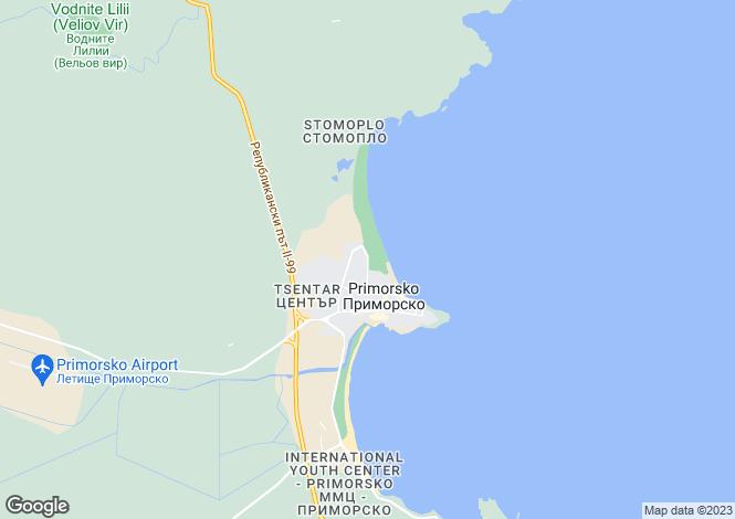 Map for Primorsko, Burgas