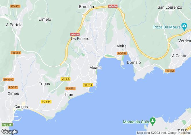Map for Galicia, Pontevedra, Moaña
