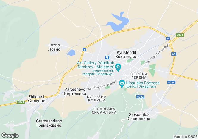 Map for Kyustendil, Kyustendil