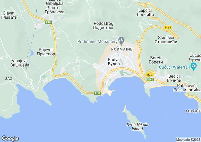 Map for Budva