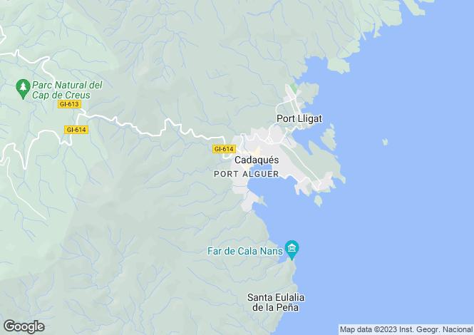 Map for Catalonia, Girona, Cadaqués