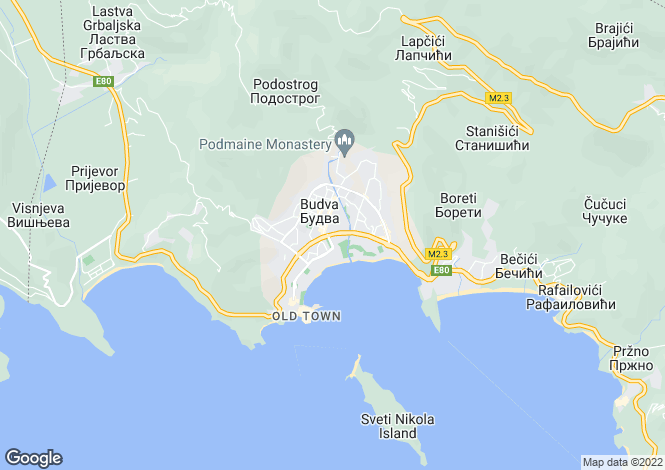 Map for Luxury Apartment Complex, Skocidjevojka, Budva