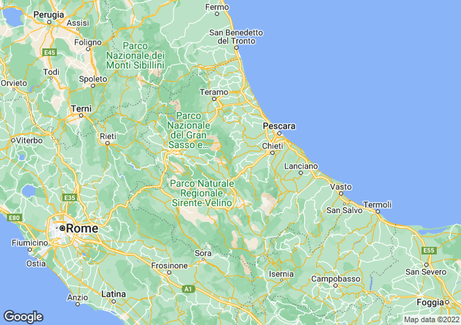 Map for Civitaluparella, Abruzzo, Italy