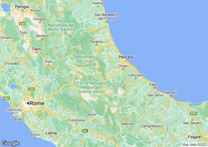 Map for Borrello, Abruzzo, Italy