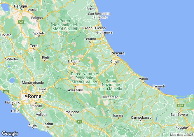 Map for Guarena, Abruzzo, Italy