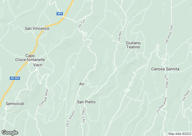 Map for Ari, Chieti, Abruzzo