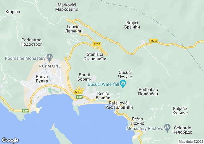 Map for Rafailovici