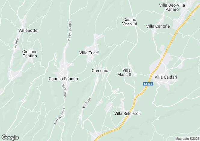 Map for Crecchio, Chieti, Abruzzo