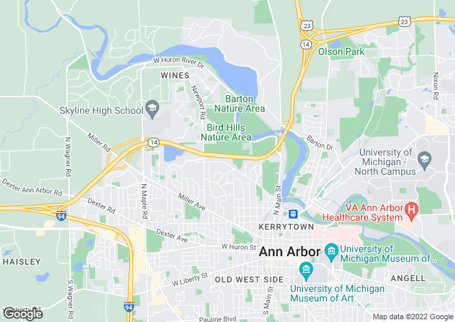 Map for USA - Michigan, Washtenaw County, Ann Arbor