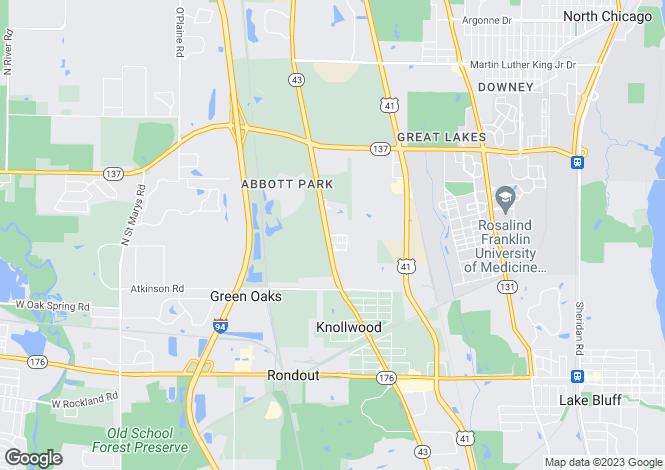 Map for USA - Illinois, Lake County, Lake Bluff