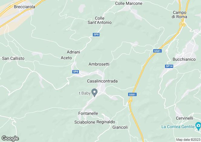 Map for Abruzzo, Chieti, Casalincontrada