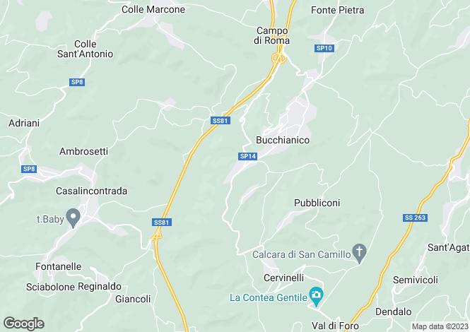Map for Abruzzo, Chieti, Bucchianico