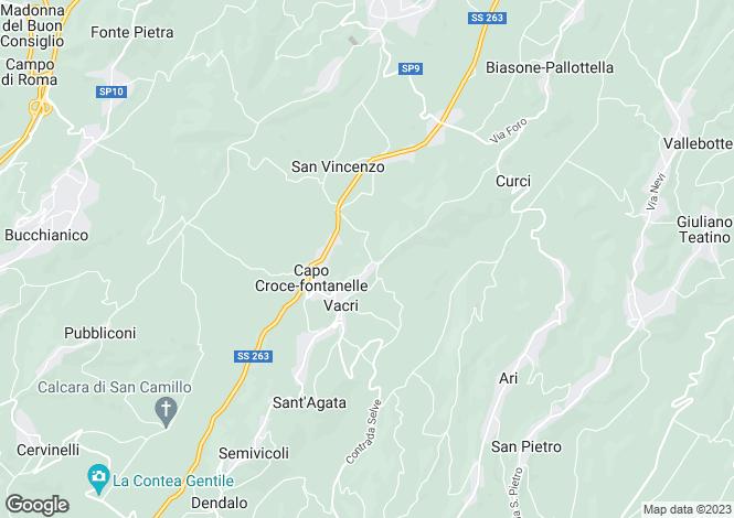 Map for Abruzzo, Chieti, Vacri