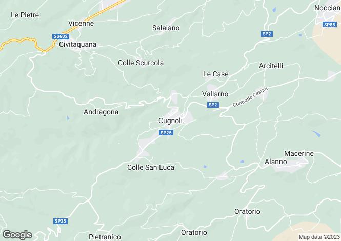 Map for Abruzzo, Pescara, Cugnoli