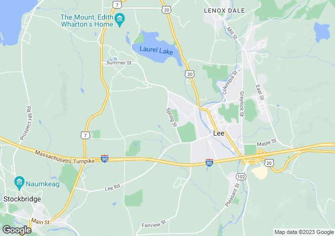 Map for USA - Massachusetts, Berkshire County, Lee