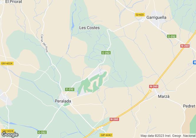 Map for Peralada, Girona, Catalonia