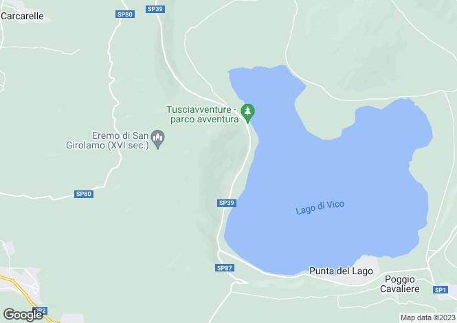 Map for Caprarola, Viterbo, Lazio