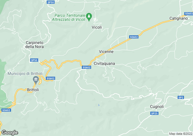 Map for Abruzzo, Pescara, Civitaquana