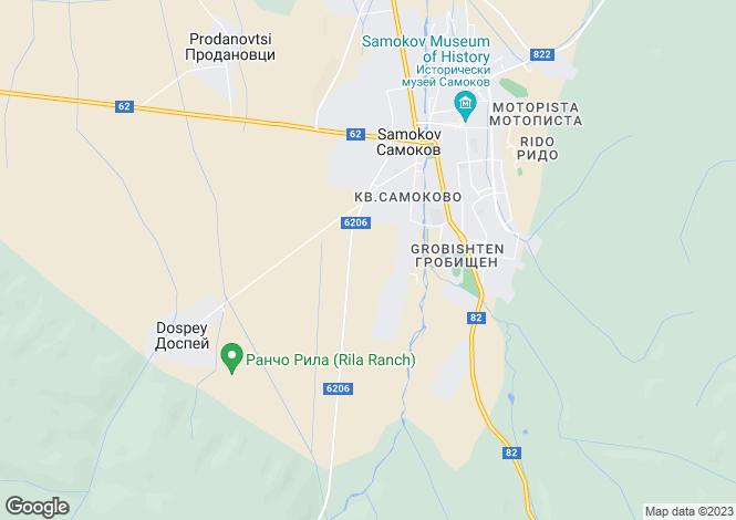 Map for Samokov, Sofiya
