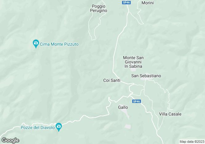 Map for Rieti, Rieti, Lazio