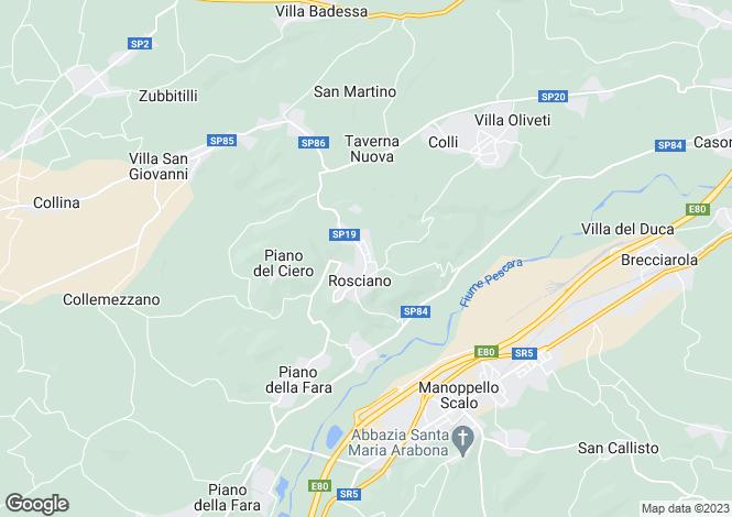 Map for Abruzzo, Pescara, Rosciano