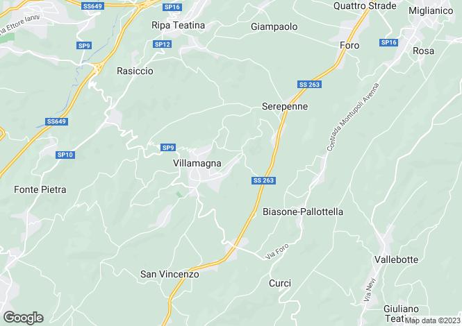 Map for Abruzzo, Chieti, Villamagna
