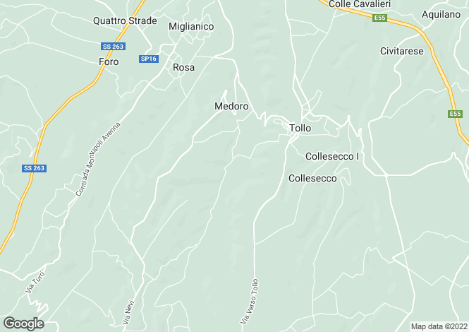 Map for Tollo, Chieti, Abruzzo