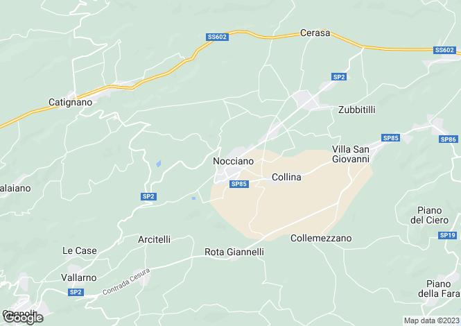 Map for Abruzzo, Pescara, Nocciano