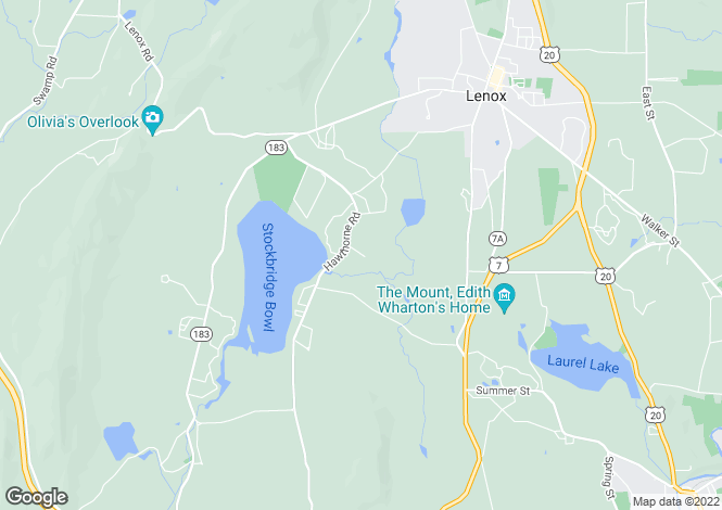 Map for USA - Massachusetts, Stockbridge