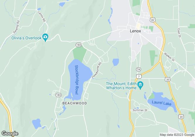 Map for USA - Massachusetts, Stockbridge