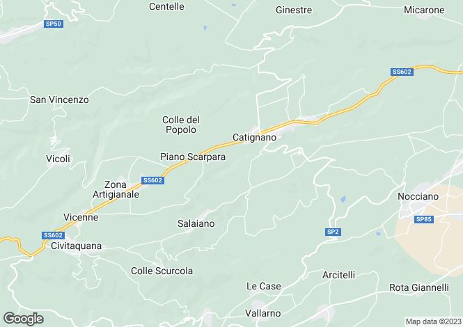 Map for Abruzzo, Pescara, Catignano