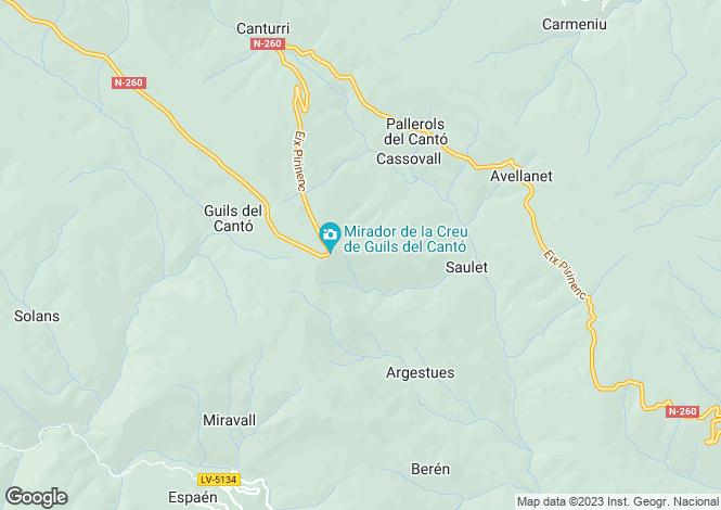 Map for Le Seu d`Urgell, Lleida, Catalonia