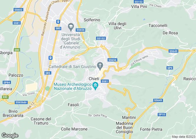 Map for Abruzzo, Chieti, Chieti