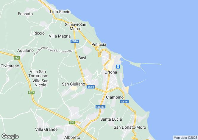 Map for Abruzzo, Chieti, Ortona
