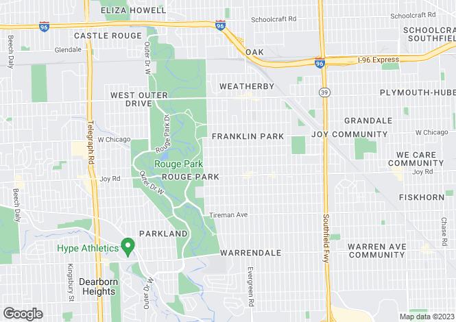 Map for Michigan, Wayne County, Detroit