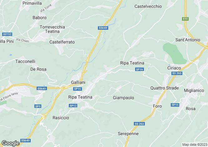 Map for Ripa Teatina, Chieti, Abruzzo