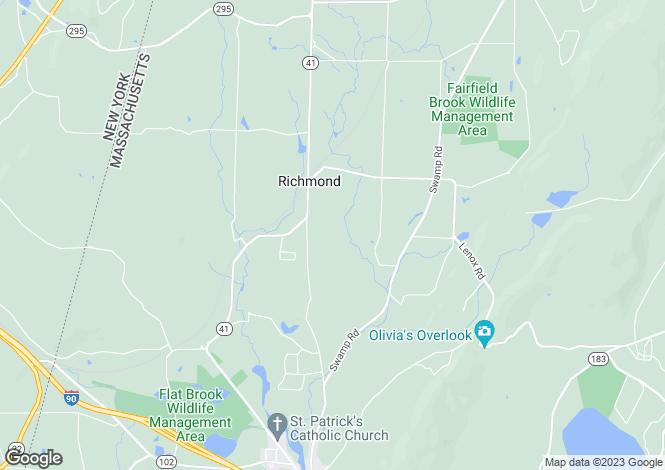 Map for USA - Massachusetts, Richmond