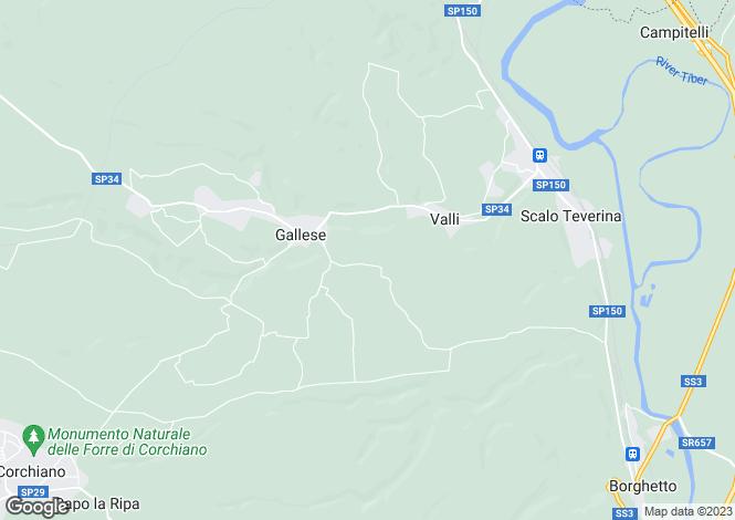 Map for Lazio, Viterbo, Gallese
