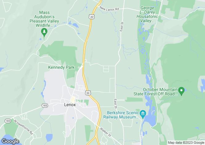 Map for USA - Massachusetts, Berkshire County, Lenox