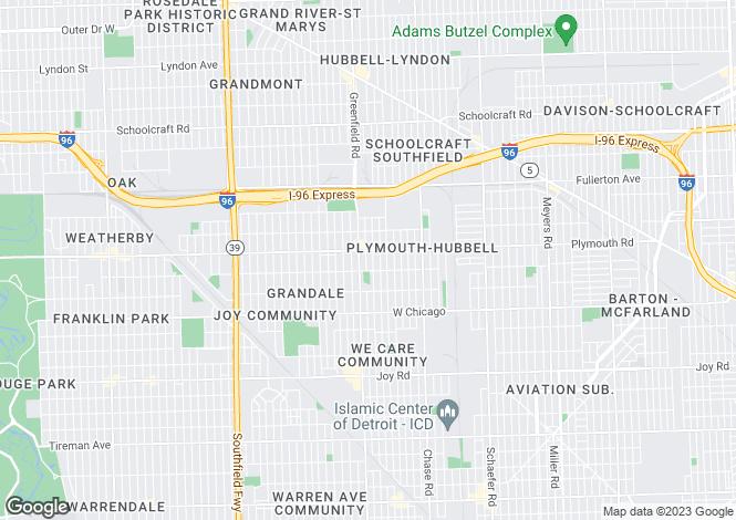 Map for Detroit, Wayne County, Michigan