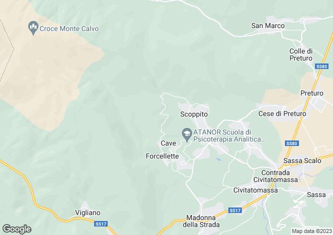 Map for Abruzzo, L`Aquila, Scoppito