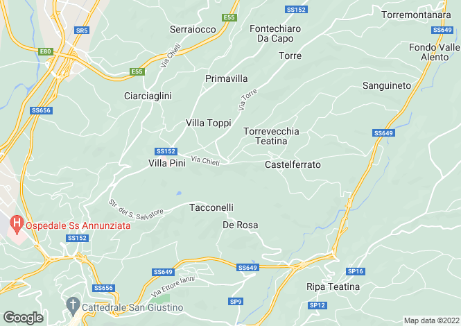 Map for Torrevecchia Teatina, Chieti, Abruzzo
