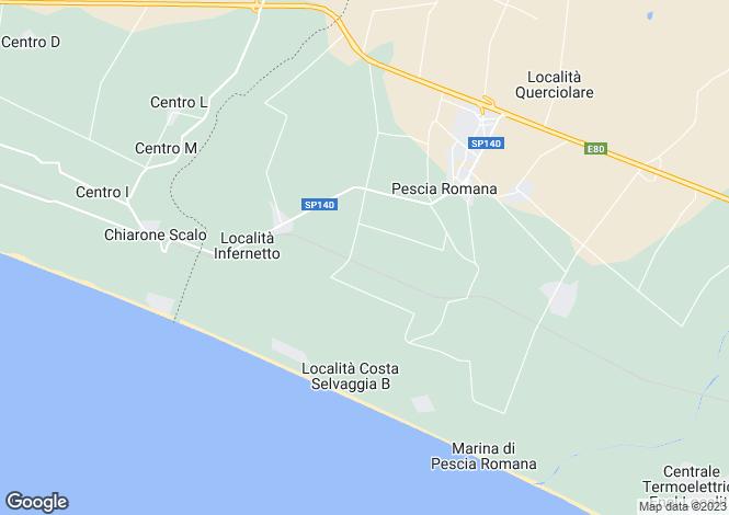 Map for Montalto di Castro, Viterbo, Lazio
